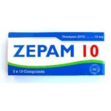 50 comp. Diazepam 10mg  (Marque Zepam)